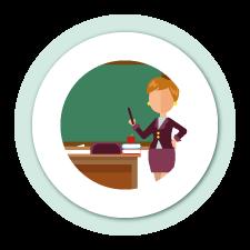 Icono Educación Profesora