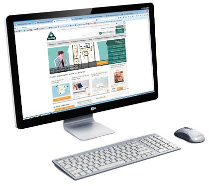 Ordenador con Web ADAMS