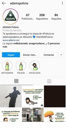 redes sociales ADAMS Formacion