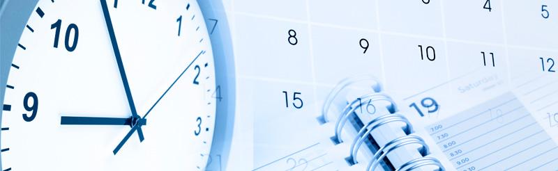 Reloj y calendario